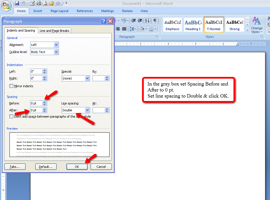 apa format in word