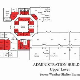 Administration Center Upper Level Shelter