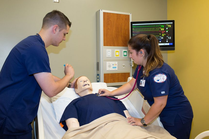 Nursing students at Kirtland