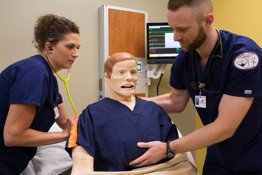 Nursing students learning through simulated healthcare settings and scenarios