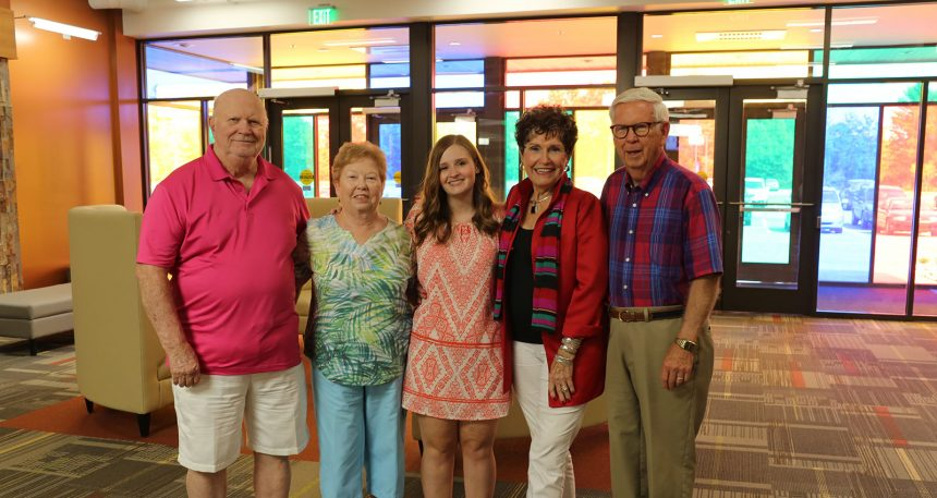 Caitlyn Smith-Willor with Chambers Scholarship Donors